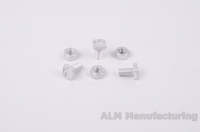 ALM GH024 Aluminium square head bolts